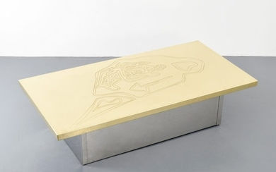Guy de Jong Etched Coffee Table - Guy de Jong