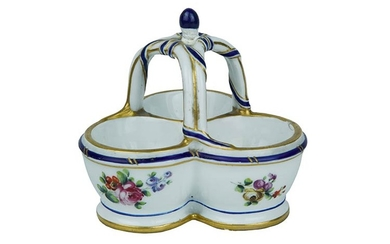 Sauce Boat Sauce boat with three jars tied at the...