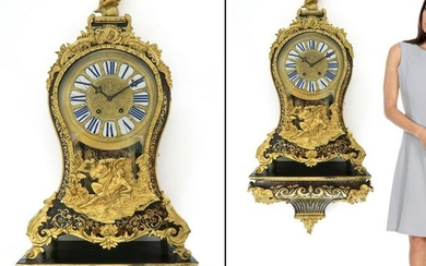 Very Large 19th C. French Boulle clock on Wall Bracket
