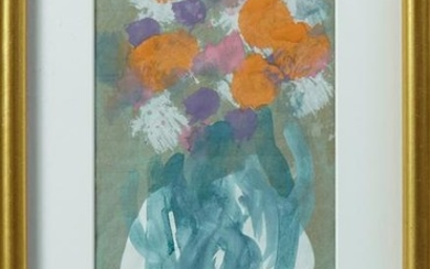 "Sybil Gibson (1908-1995), ""Flowers in a White Vase,"""