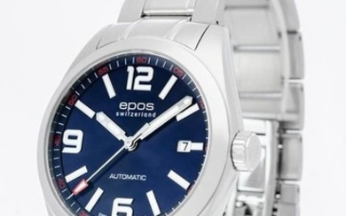 Epos - Men's blue dial automatic watch - 3411-S/S-BLU-ARAB - Men - 2011-present