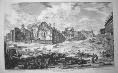 Piranesi, Giovanni: THE BATHS OF DIOCLETIAN, SHOWING THE CHURCH OF S. MARIA DEGLI ANGELI AND THE PIAZZA., Year 1774