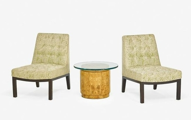 PAIR OF EDWARD WORMLEY FOR DUNBAR LOUNGE CHAIRS &