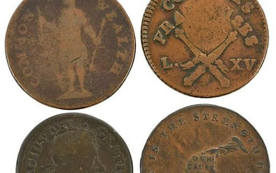 Group of Colonial and Post Colonial Copper Coins