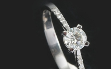 Ring with brilliant cut diamonds 0.50 ct