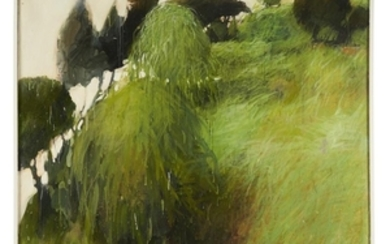 """WALTER SNELGROVE (american, b. 1924) """"GREEN"""" Signed and titled..."""