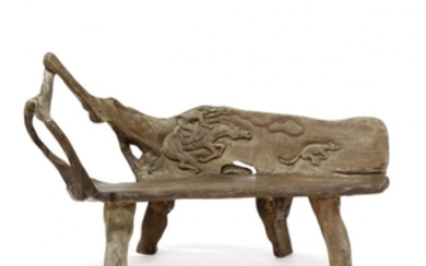 Australian Carved Freeform Root Bench
