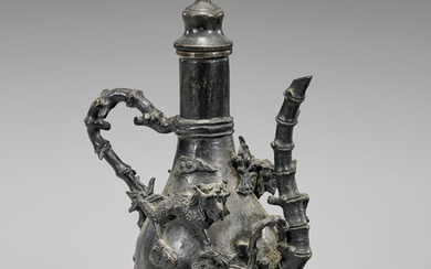 ELABORATE CHINESE BRONZE EWER