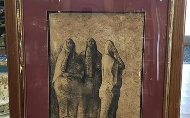 "Francisco Zuniga - ""Tres Mujeres de Pie, II"" Signed"