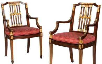 Maitland Smith - French Empire Style Arm Chairs