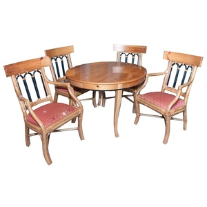 Lot Art Ficks Reed Co Bamboo And Wood Dining Set