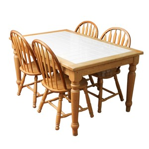 Country Style Ceramic Tile Dining Table