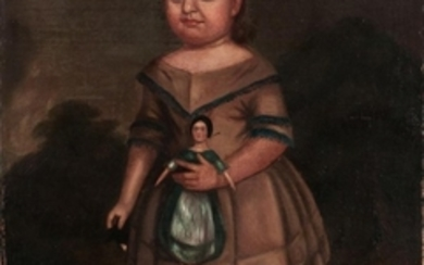 American School, Mid-19th Century Child Holding a Doll
