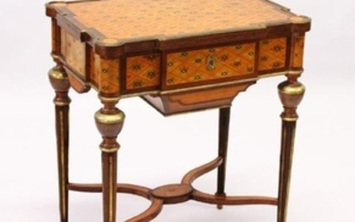 A GOOD 19TH CENTURY FRENCH PARQUETRY AND ORMOLU WORK