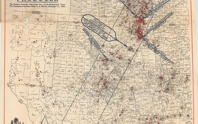 """""""Gallup's Map of the Central-Southern Oil Fields of the United States"""", Gallup, F.E."""