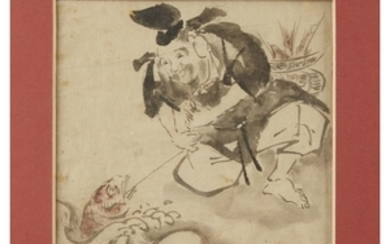 A group of four Asian paintings Comprising: JAPANESE SCHOOL,...