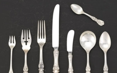 """Reed & Barton Sterling Silver Service for Twelve, """"Francis I"""" Pattern"""