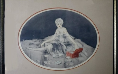 Louis Icart 1888-1950 French Color Etching SIGNED