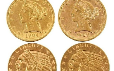Group of Twenty, Five Dollar Gold Coins