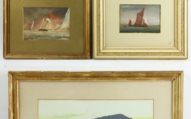 Group of Three Paintings, Various Artists