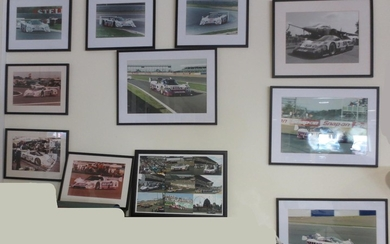Assorted Silk Cut and Castrol sponsored Jaguar photographs and artwork,