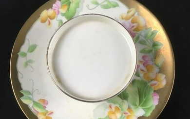 Hand Painted Bavarian Hand Painted Appetizer Plate