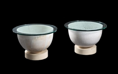 A matched pair of French glass-maker's pots