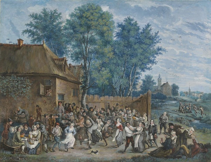 FLEMISH SCHOOL, 18TH CENTURY Village Kermesse Scenes after Pieter Bruegel (A Pair).