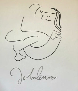 Lot Art John Lennon Drawing