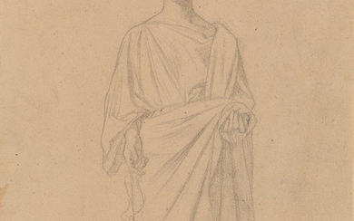 JEAN HIPPOLYTE FLANDRIN (Lyon 1809 1864 Rome) Group of 5 pencil drawings.