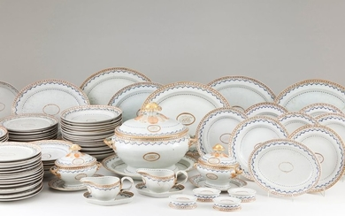 Part of a dinner set Chinese export porcelain P…