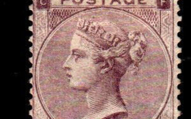Great Britain 1862 - 6 d lilac - W Large Garter - Stanley Gibbons N. 84