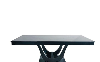 Art Deco gondola dining table high gloss from France