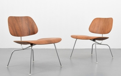 """Charles Eames; Herman Miller - 2 Charles & Ray Eames """"LCM"""" Chairs"""