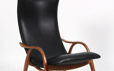 Fritz Henningsen. 'Signature Chair', Model FH429, black leather and walnut