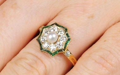An early 20th century Austrian gold, pearl,
