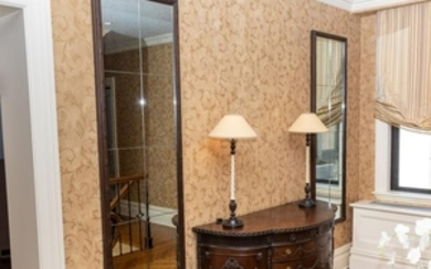 French Decorative Mirrored Panels - Pair