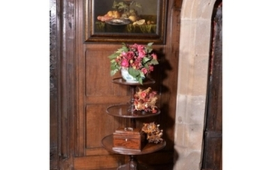 A George III mahogany dumb waiter