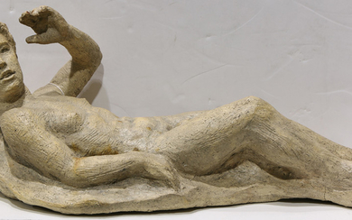 Reclining Male - Sculpture, Reclining Male