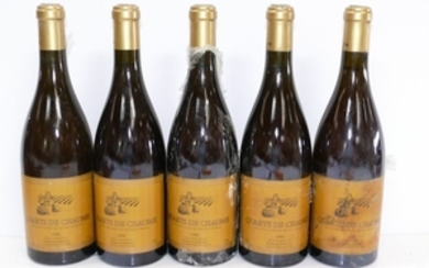 5 Btles Quarts de Chaume 1996 Chateau Bellerive do…