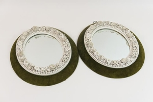 Style Oval Form Encrusted With Flowers