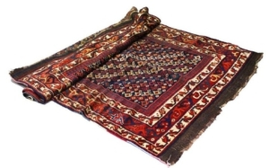 A GOOD CAUCASIAN CARPET with a centre with numerous