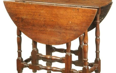 Diminutive William and Mary Gate Leg Table
