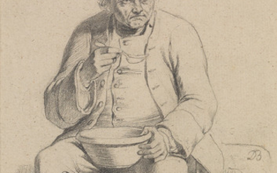 JEAN JACQUES DE BOISSIEU (Lyon 1736 1810 Lyon) A Study of a Seated Man Eating Soup.