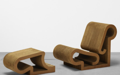 Frank Gehry, Easy Edges chair and ottoman