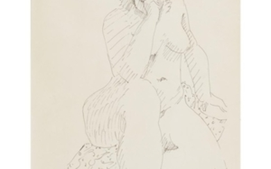 """MILTON AVERY (american, 1885–1965) """"THINKING NUDE"""" Signed bottom right,..."""