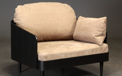 Lounge chair, 'Septembre' Lounge chair, leather