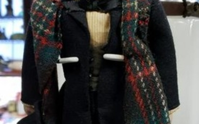 Circa 1920 Folk Abraham Lincoln Doll Made in New