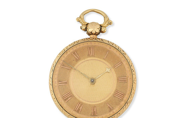 James Rigby, Liverpool. An 18K gold key wind open face pocket watch