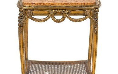 A Louis XV Style Giltwood Table